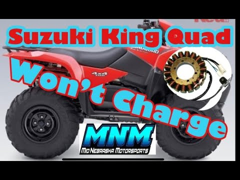 2005-2014 Suzuki King Quad 750 Stator Test & Replace - Charging System Fail - Flywheel Cover