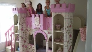 Girls Fairytale Princess Beds Princess Theme Rooms  Disney Princess Bedroom