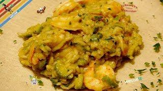 250 - Risotto mazzancolle e zucchine...ed il gusto non ha fine (primo piatto a base di pesce facile)