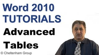 Word 2010 Tutorial | Advanced Tables | Full Training Course