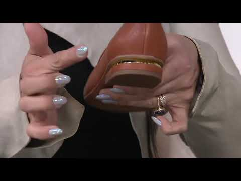 Franco Sarto Leather Pointy Toe Loafers - Starland On QVC