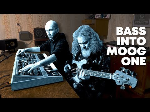 Running A Bass Through The Moog One Synth