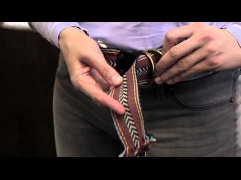 How to Fasten Double D-Ring Belt Buckles : Belts, Corsets, Earrings & More