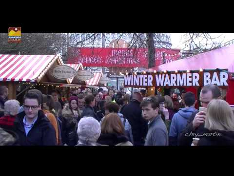 Christmas Market at St. Stephen's Green, Dublin, Ireland Merry Christmas