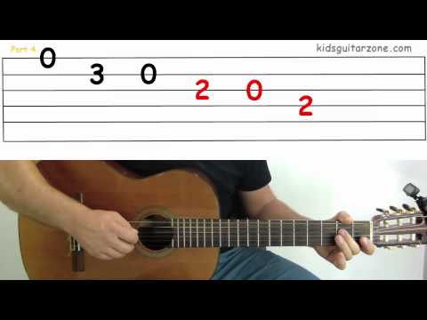 Guitar lesson 5E: The Pink Panther Theme (E)