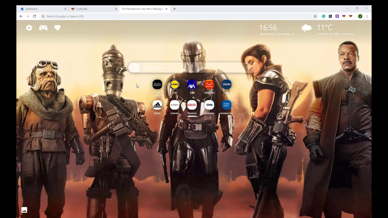 Awesome The Mandalorian Star Wars Wallpapers New Tab For Chrome