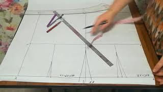 #13 Как сшить прямую юбку. Построение выкройки. Мастер - классы от Ники. Шьем с нуля.