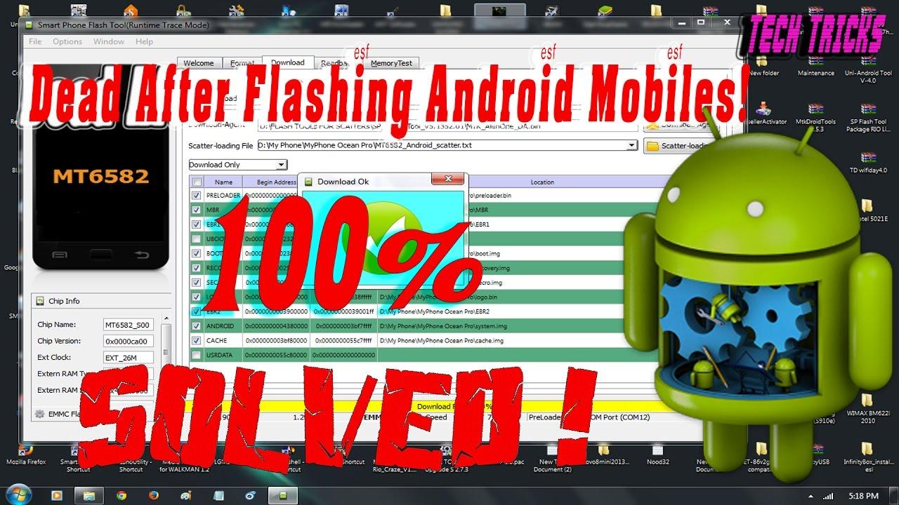 After Flash Dead | MTK Flash Problem | Stuck On Logo Problem Solution by RK  Service