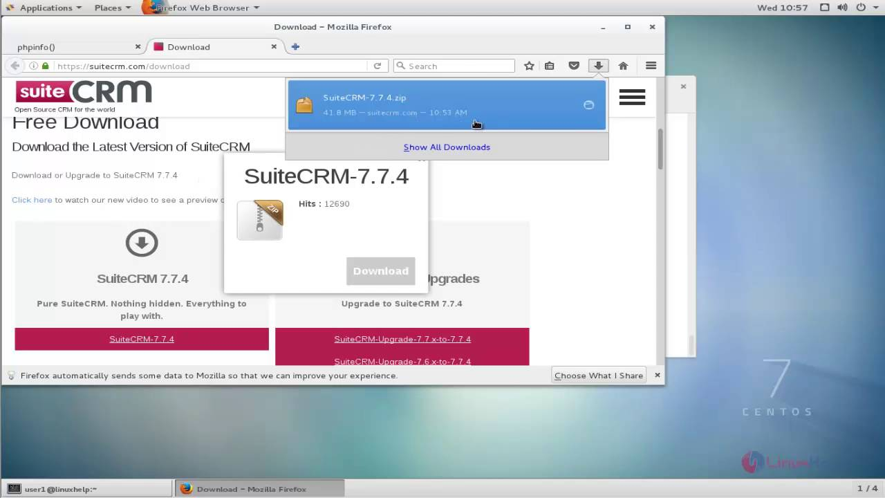 How to install SuiteCRM in CentOS | LinuxHelp Tutorials