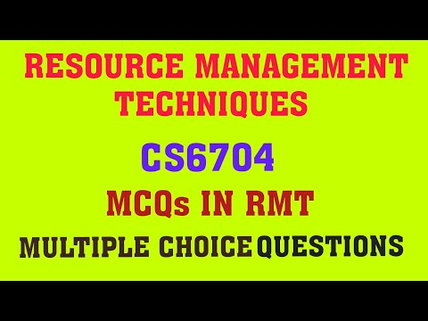 MCQ in RMT | CS6704 Resource management techniques mcq | RMT One word for online exam in Tamil