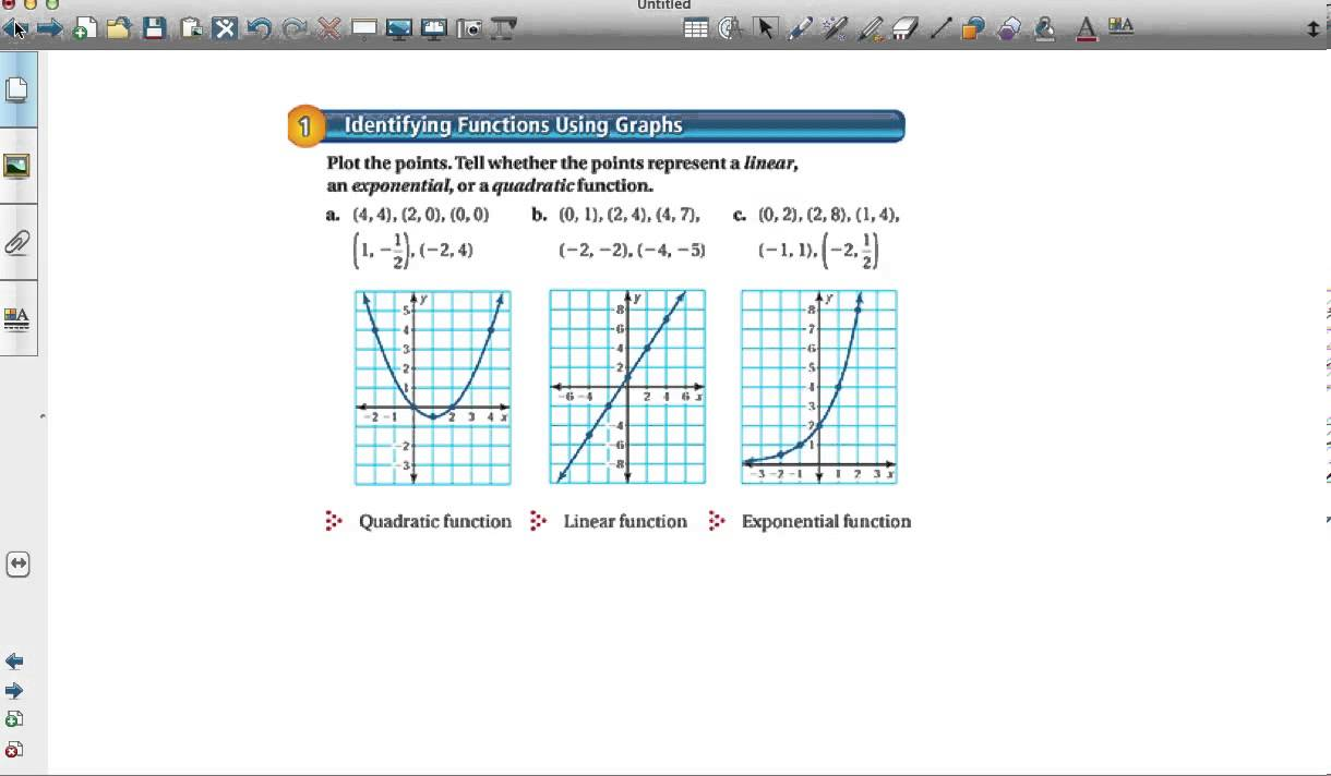 Comparing Linear Exponential And Quadratic Functions Youtube