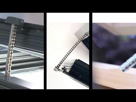 Automatyczne otwieranie i uchylanie okien - napędy łancuchowe