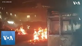Muslim-owned factory in Sri Lanka torched