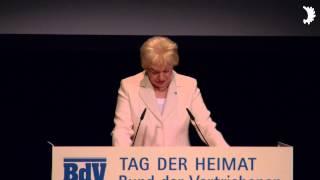 Eröffnung des Tages der Heimat 2014 durch Erika Steinbach und Ehrung von Kanzlerin Angela Merkel