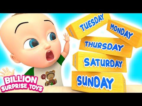 Days of a week - Preschool Song for Kids   Billion Surprise Toys