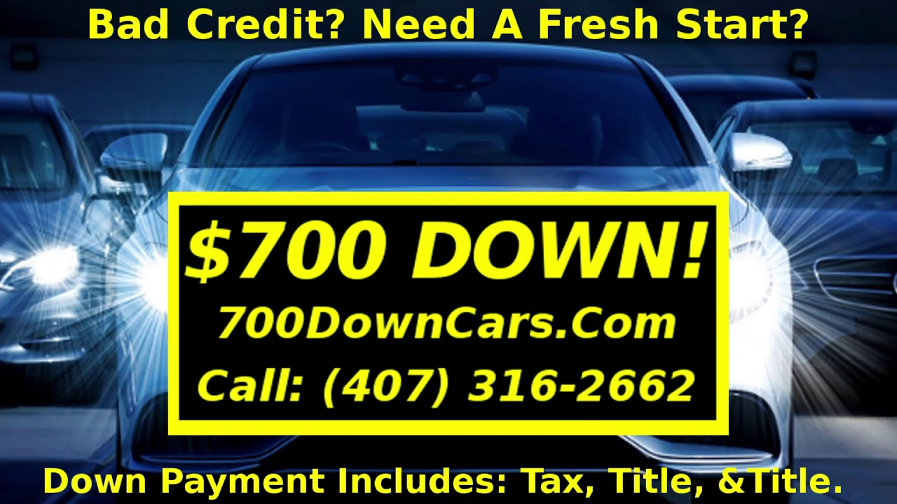 Buy Here Pay Here Orlando >> 700 Down Cars Bad Credit Buy Here Pay Here Options Orlando Florida Used Cars