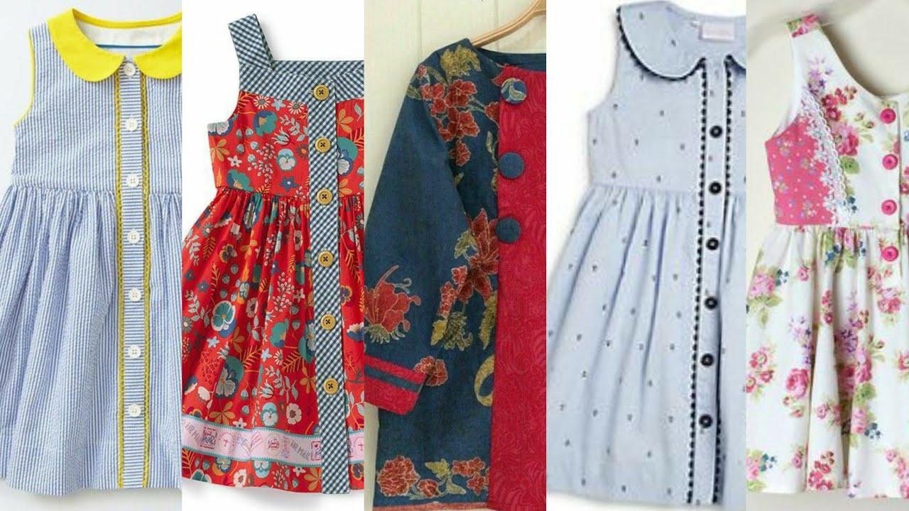 Very Creative open Style Frocks Designs For Little Girls/Summer Frocks and cardigans Designs  Idea&#