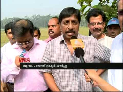 Actor Sreenivasan to experiment machinery in farming പുത്തന് കൃഷി രീതികളുമായി ശ്രീനിവാസന്