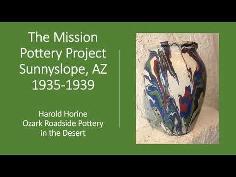 History of Phoenix:  The Mission Craft Pottery Project Sunnyslope, Arizona 1935-1939