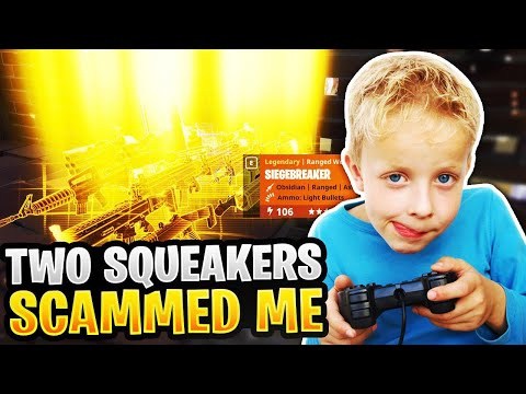 Two Rich Squeakers Scam Me! (Scammer Gets Scammed) Fortnite Save The World