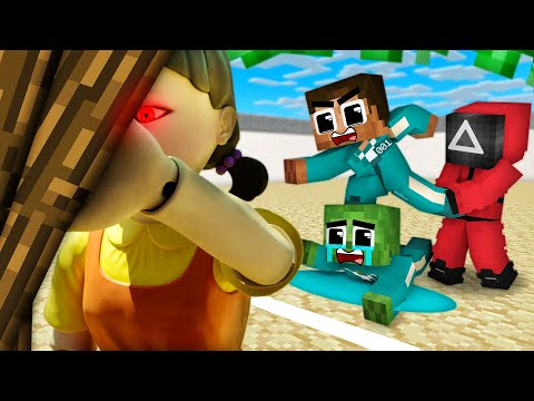 Monster School : Squid Game Season 1 Poor 456 Baby Zombie All Episodes Sad Story Minecraft Animation