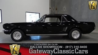 1966 Ford Mustang Stock #1 Gateway Classic Cars Dallas Showroom