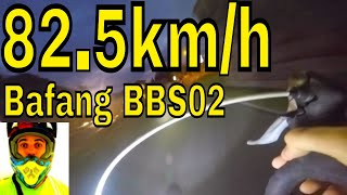 Hacked Bafang BBS02 82.5Km/h TOP SPEED • Electric Road Bike 1427.5watts (750w 48v) 8fun mid drive