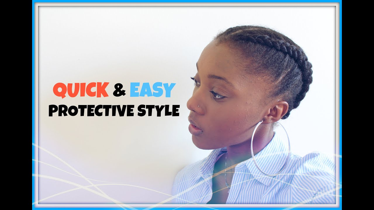 How To Quick Cute Easy Everyday Protective Style On Short