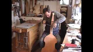 Bau einer Gambe,Viola da gamba, nach dem Original von Michel Colichon Paris 1683