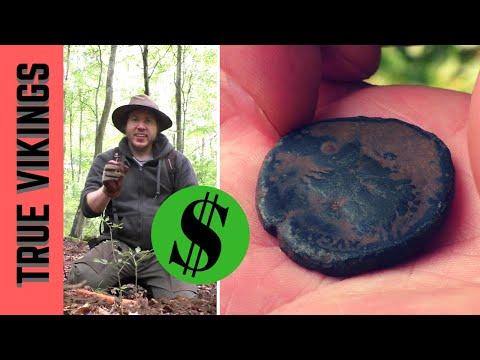 Epic Metal Detecting Day at Abandoned Roman Settlement! Coin spill and rare massive Sestertius coin