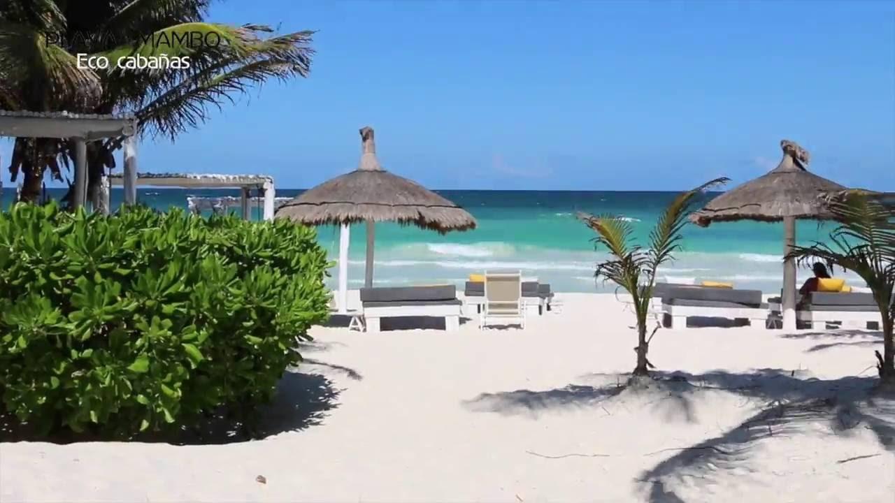 Playa mambo eco caba as tulum caribe mexico youtube for Cabanas sobre el mar en mexico
