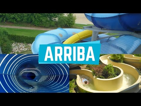 Alle Rutschen im Arriba Norderstedt || All Water Slides (GoP