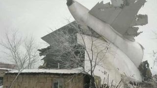 Cargo plane crashes into village in Kyrgyzstan