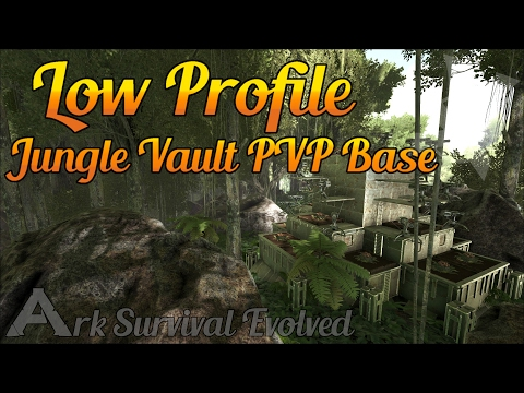 The Jungle Vault | Low Profile PVP Build Guide | Ark: Survival Evolved
