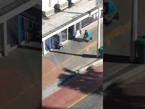 South African Police in action Cape Town robbery