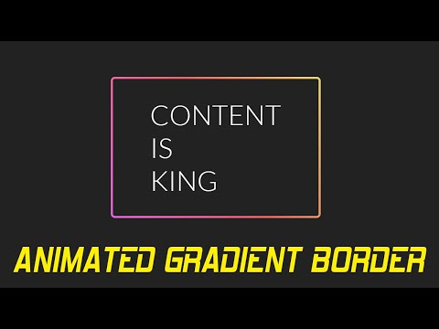 Css Gradient Border Animation | Cool Css Effects Animation Tutorial thumbnail