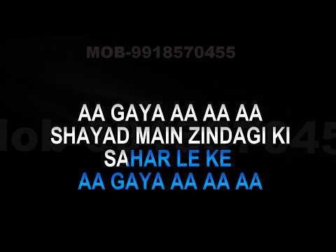 Shayad Main Zindagi Ke Sahar Karaoke Jagjit Singh Video Lyrics