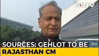 Ashok Gehlot To Be Rajasthan Chief Minister, Announcement Soon: Sources