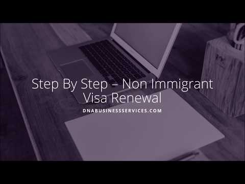 Step By Step – US Non Immigrant Visa Renewal | USA | US B1/B2 Visa, Renewal
