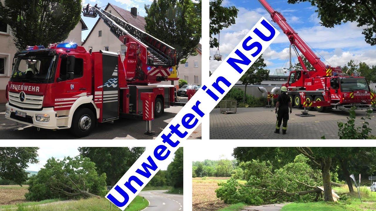 Unwetter Nsu Obereisesheim 9 8 2019 Feuerwehreinsatz Am Tag Danach Feuerwehr Heilbronn Neckarsulm