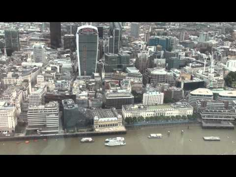 (HD)Travel to UK,view from The Shard-Shard London Bridge