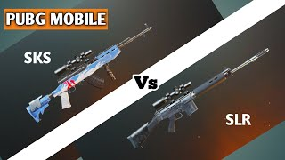 Sks vs Slr Pubg mobile DMR comparison | Kon hai 💪dumdaar | Pubg mobile Hindi