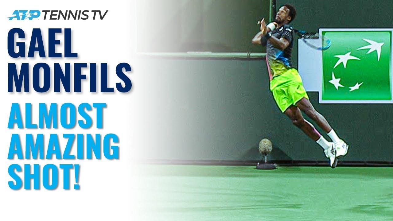 Gael Monfils NEARLY Amazing Winner & Reaction! | Indian Wells 2021 Highlights