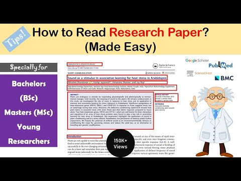How to read a Research Paper ? Made easy for young researche