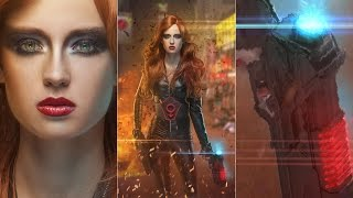 How to create Black Widow in Photoshop - Tutorial