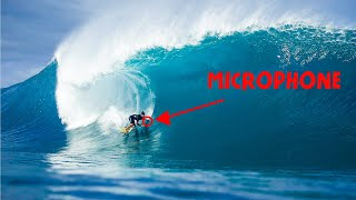 Mic'd up Surfing Brutal PIPELINE! What's it sound like!? (Wipeouts + Wave Impact Zone!)