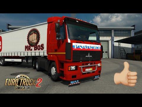 [ETS 2] ОБЗОР / МАЗ-5340/5440/6430 / Euro Truck Simulator 2 Отличный мод
