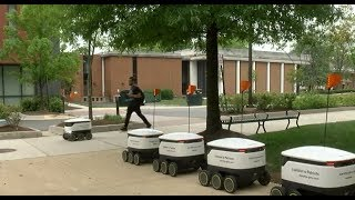 FAIRFAX, VIRGINIA: Robot food delivery at George Mason could become the future