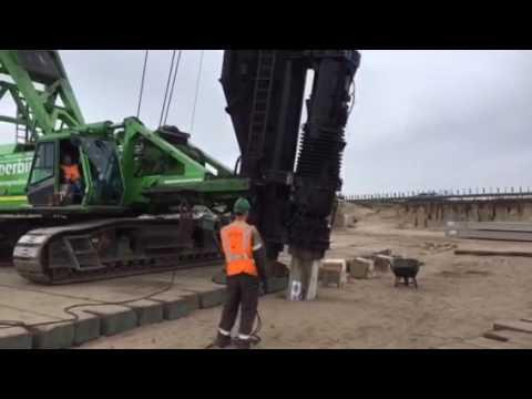 Heien betonpalen #450 van 35 meter! ( deel 2 )