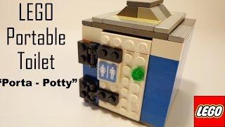 LEGO Portable Toilet - Porta Potty MOC